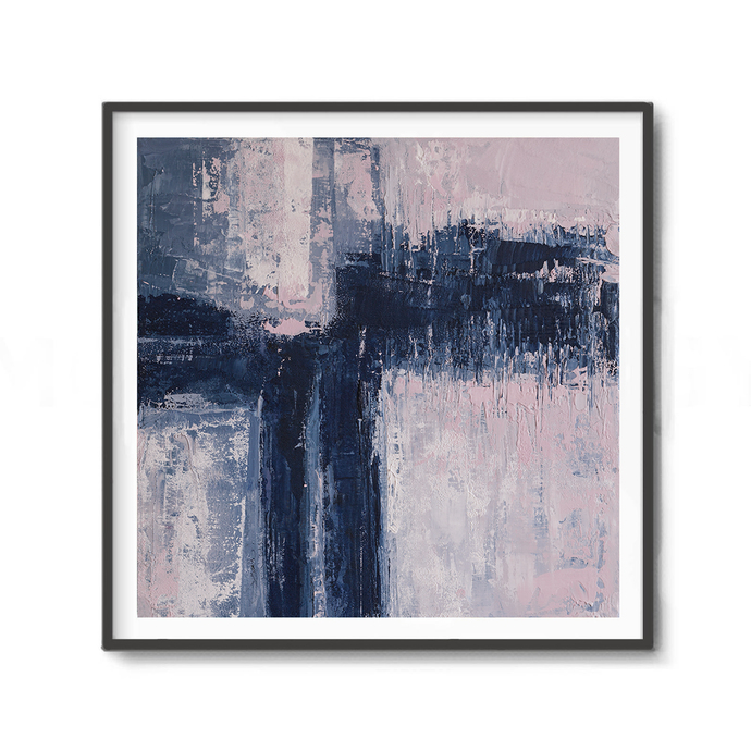 Blue & navy Art, Abstract Art, Contemporary Art, Art Print, Printable, Instant