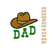 Dad with hat embroidery design,dad embroidery Design, Father love embroidery