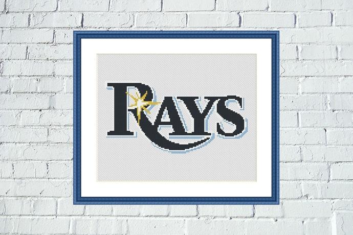 Tampa Bay Rays cross stitch pattern