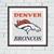 Denver Broncos cross stitch pattern