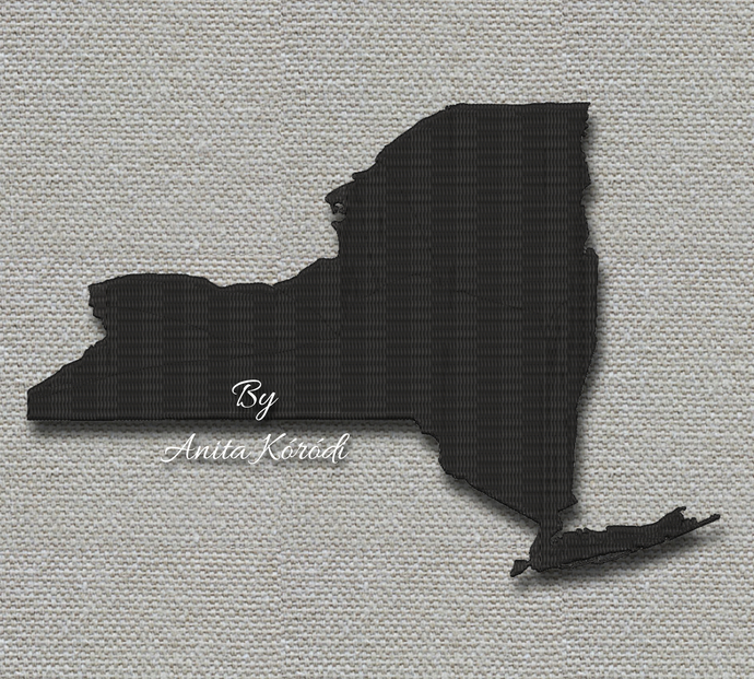 New York State Embroidery Machine Design USA instant digital download pattern in
