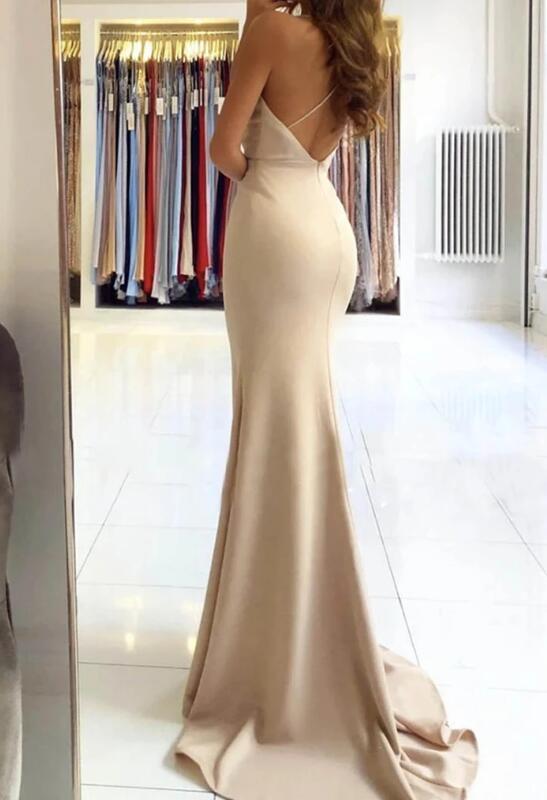Sexy Slit V-neckline Mermaid Long Prom Dress, New Prom Gown 2020