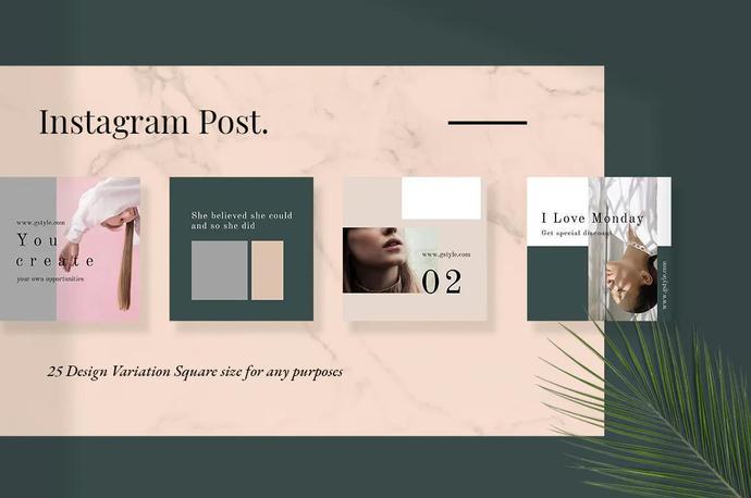Roses - Instagram Post Template, Social Media Posts, Minimal Template