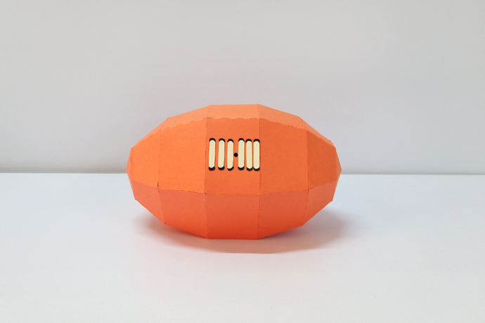 DIY Papercraft Rugby ball,Printable football,Paper ball,Rugby party,Print and
