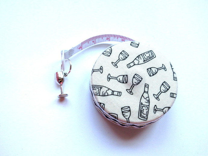 Tape Measure with Wine Bottles and Glasses Small Retractable Measuring Tape