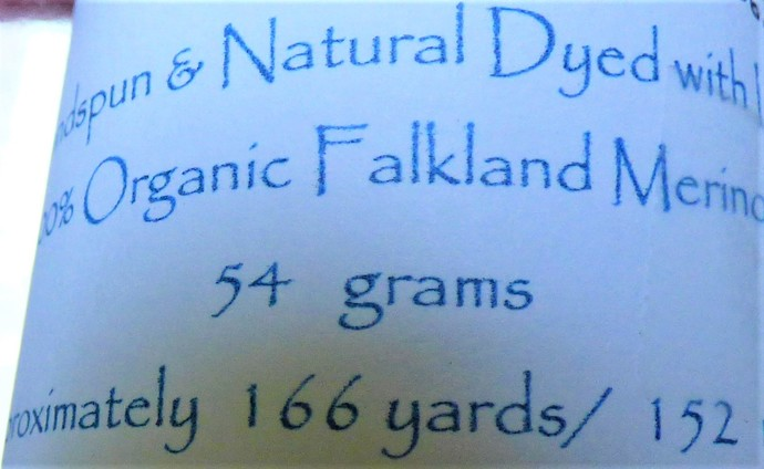Handspun Yarn Natural / Eco Dyed with Lac – 100% Organic Merino – 54 grams –
