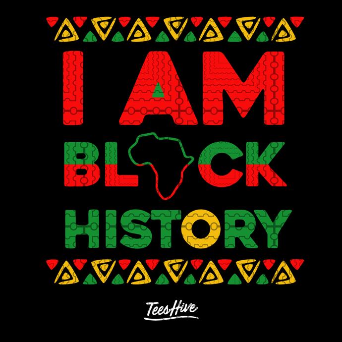I am black history svg