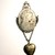 Cameo brooch with heart locket, antiqued by hand.  Mother's Day gift under $25.