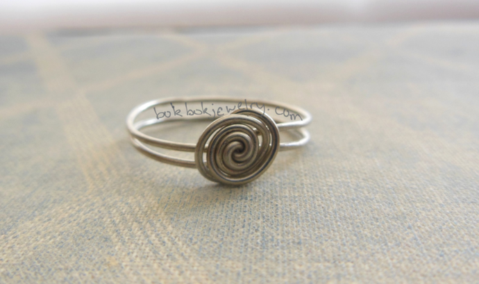 Simple Sterling Silver Wire Ring - Custom Sizes Available