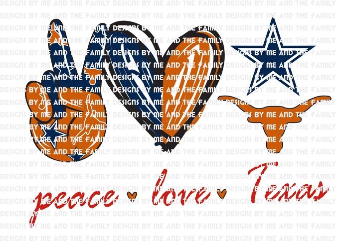 Peace love Texans, Texas, Football, College, Baseball, PNG