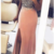 Mermaid V-Neck Sequins Long Blush Pink Prom Dress with Slit,F1635