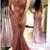 Sparkle Sequins Watermelon Mermaid Long Evening Dress,F1639