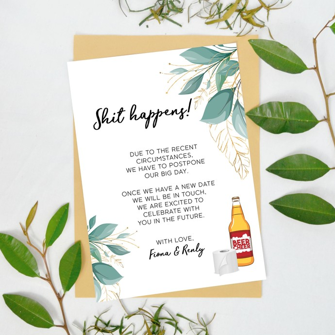 Change of Plans Announcement, Wedding Cancellation Template 25