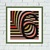 Brown striped Illusion geometric cross stitch