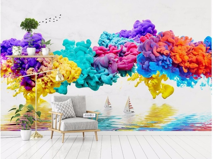 Custom Wallpaper Ink and Smoke Abstract Background Wall Decoration Painting Wall