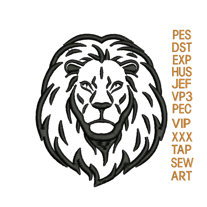Lion head embroidery design Lion embroidery pattern embroidery applique N1244...