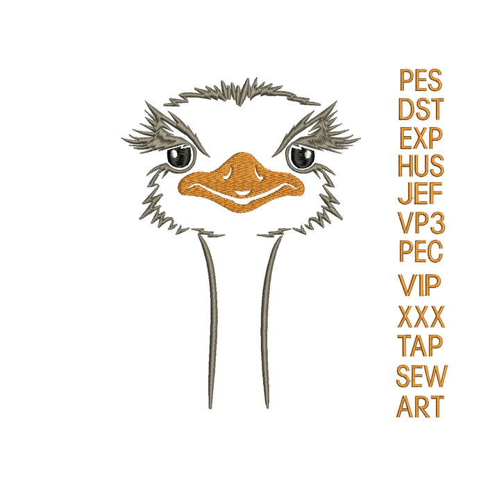 ostrich embroidery design,ostrich embroidery pattern,embroidery ostrich applique