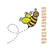 Buzzing Bee embroidery design,Bee embroidery pattern,embroidery applique,bee