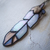 """""""Albatross Feather,"""" Stained Glass Meditation Feather with Quartz Fossilized"""
