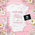 Spring Baby Girl Announcement for Social Media, Pregnancy Announcement,