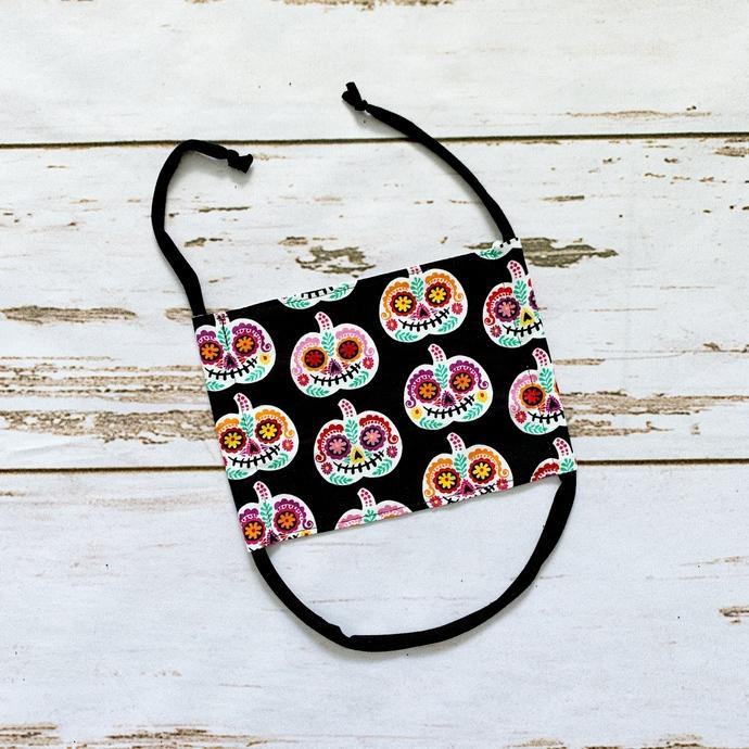 Adult Fabric Face Mask - Floral Pumpkins