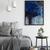 contemporary art, rustic home decor , wall art abstract, digital image, indigo