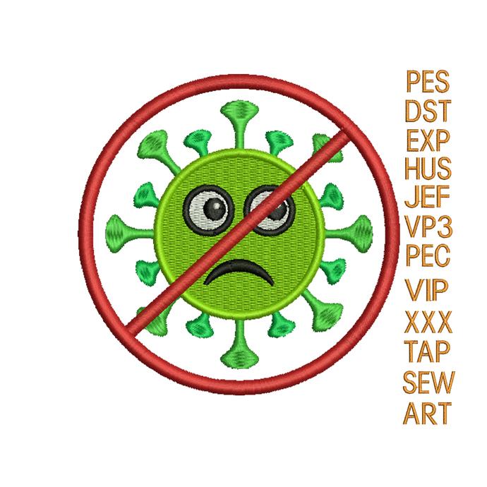 Corona Virus embroidery design stop Corona Virus embroidery pattern embroidery