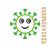 Coronavirus applique Embroidery design,COVID19 applique embroidery design,