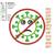 Stop Corona Virus applique embroidery design Coronavirus embroidery applique