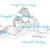 Smooth Sailing - Hedgehog Adventure, fish, flower, digital image, cheerful,