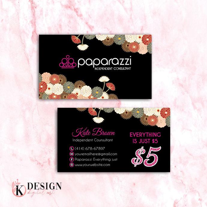 Floral Paparazzi Business Cards, Paparazzi Accessories, Paparazzi Consultant