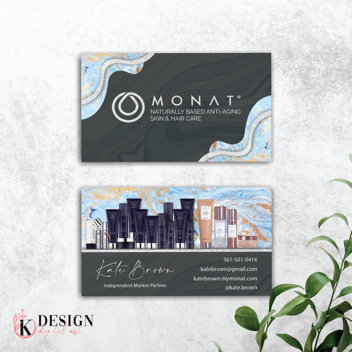 Marble Monat Business Cards, Personalized Monat Hair Care Cards MN13