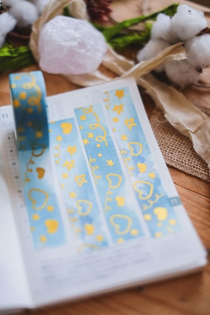 London Gifties x Rainbowholic foil masking tape - Stars & Clouds - 2cm wide foil