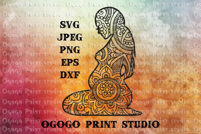 Pregnancy Svg Baby Svg Zentangle Svg By Ogogo Print On Zibbet