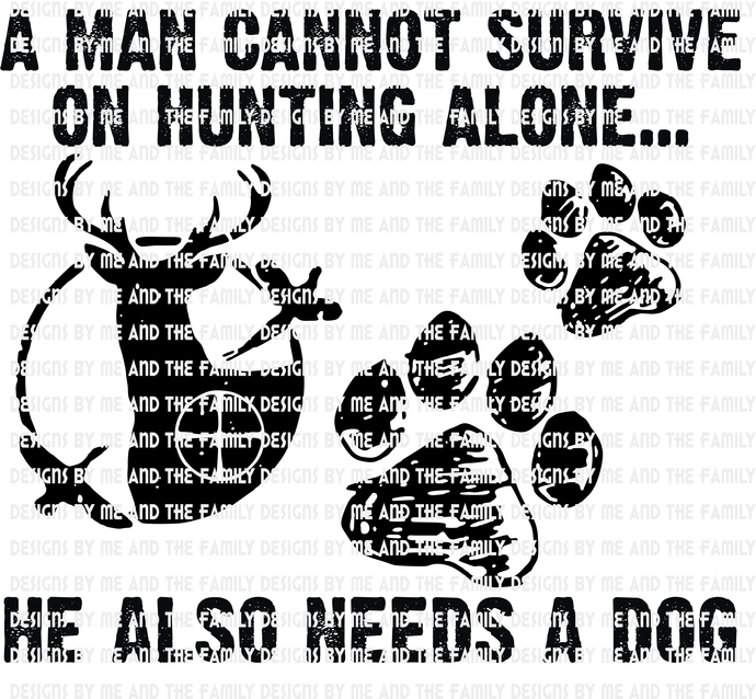 A man can not survive on hunting alone he also needs a dog, Doing it doggy