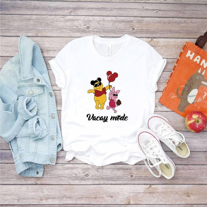 Vacay mode, winnie the pooh, piglet, pooh svg, disney, disneyland, Png, Dxf, Eps