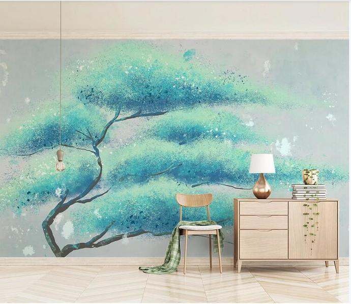 Custom Wall Murals Wallpaper Watercolor Huge Tree Creative Tree Mural Art Living
