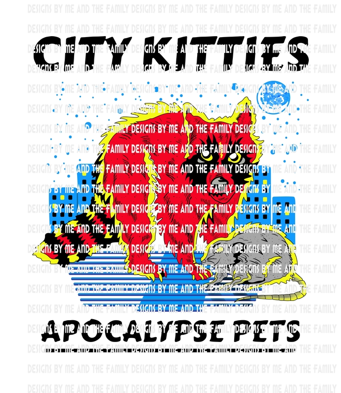 City Kitties, Apocalypse Pets, adult humor, funny t shirt, vintage tee, zombie