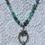 The Shaman Hand knot beaded Necklace with pendant by KnottedUp Natural Stone