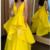 SIMPLE YELLOW SATIN LONG PROM DRESS YELLOW EVENING DRESS,F1679