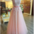 Elegant Tulle Pink Pearls Prom Dress, Appliques Pink Prom Dresses, Long Evening