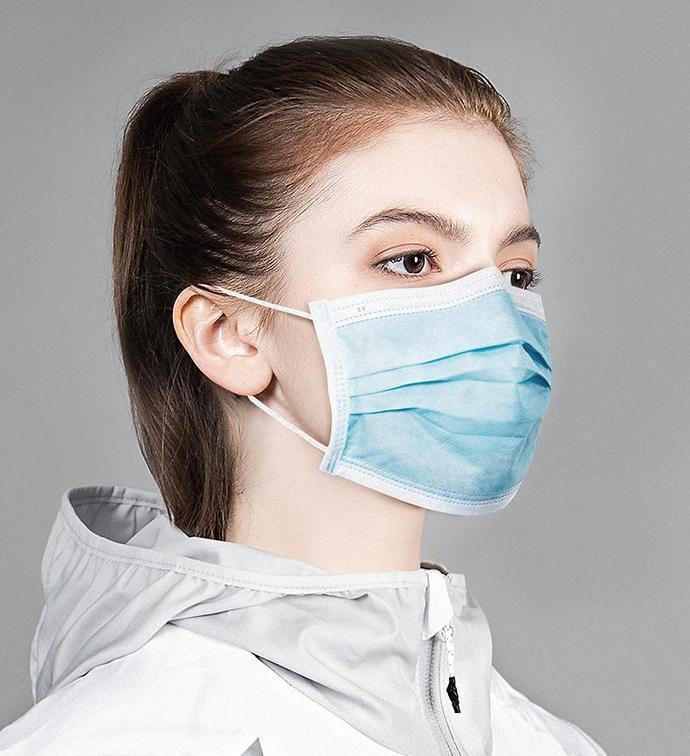 50pcs disposable face masks cheap non woven antivirus protective dust proof
