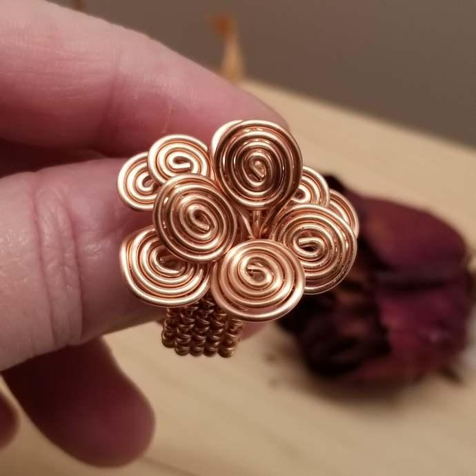 Copper Swirl Rings