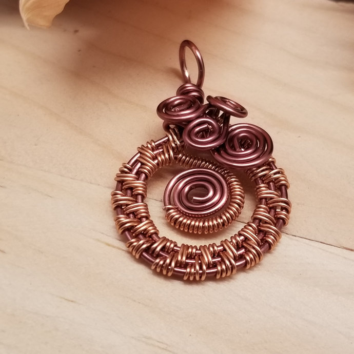 Copper Swirls Pendant