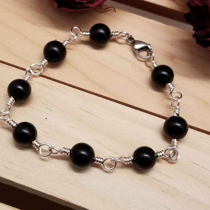 Jet Chain Bracelet