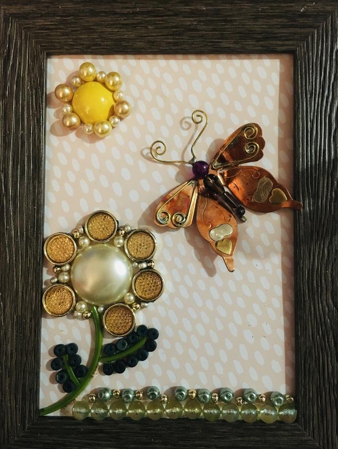 Jewelry Art - a Sunshine Day - 5x7 Frame