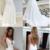 Mermaid Backless V-neck White Prom Dresses,Cheap Prom Dresses,F1777