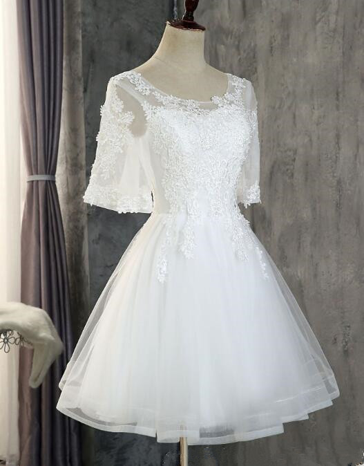 Lovely Tulle Graduation Party Dress, Cute Short Prom Dress