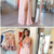 A-Line Round Neck Keyhole Pink Chiffon Prom Dress with Appliques,F1788