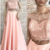 PINK OFF SHOULDER LACE TWO PIECES LONG PROM DRESS, LACE EVENING DRESS,prom